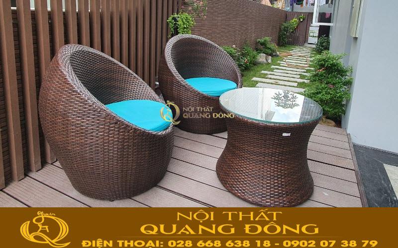 Ghế trứng ban công sân vườn QD-211