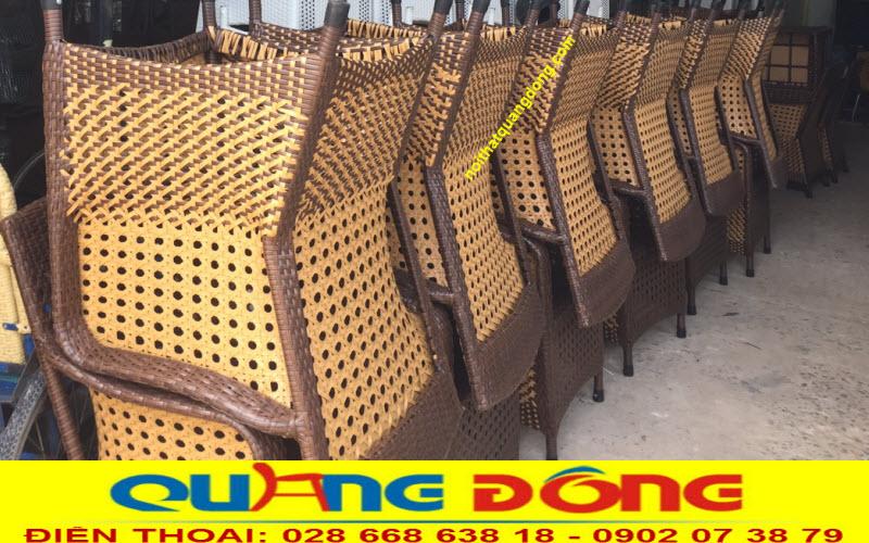 Bàn ghế giả mây QD - 267