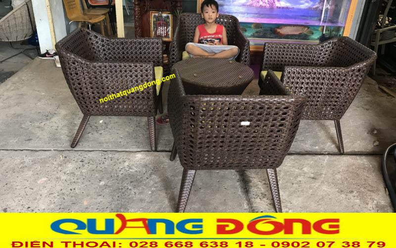 Bàn ghế giả mây QD - 268