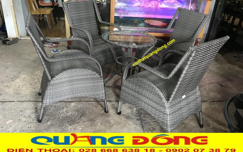 Bàn ghế giả mây QD - 272