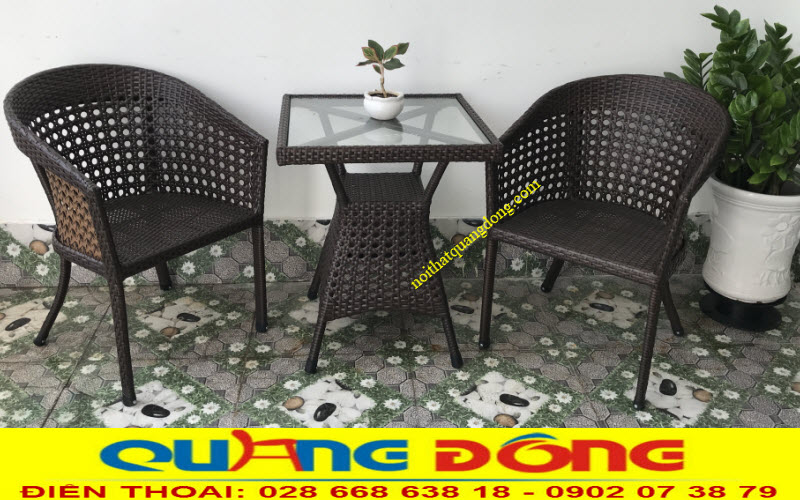 Bộ bàn ghế đôi tiện nghi cho ban công