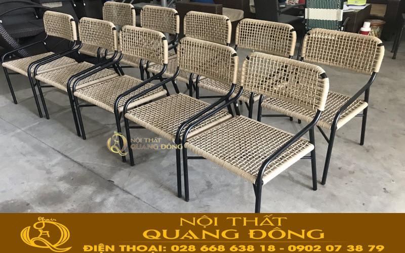 bàn ghế giả mây thiết kế sân vườn ngoài trời sản xuất theo yêu cầu