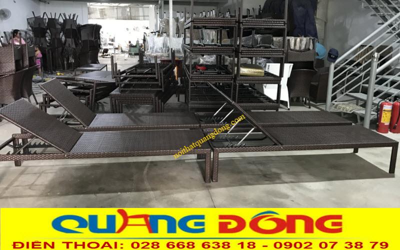 Xưởng sản xuất ghế nằm hồ bơi giả mây tại hcm