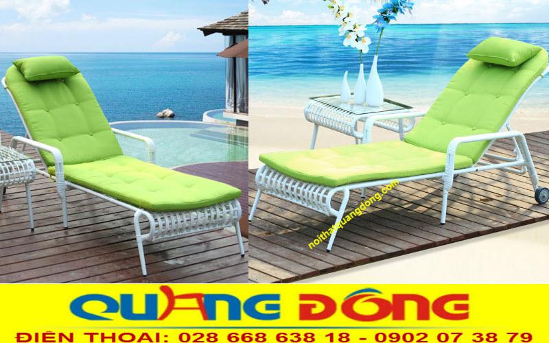 Góc nghiêng hoàn hảo của chiếc ghế nằm hồ bơi giả mây  QD-1248