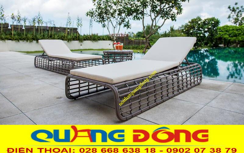 Ghế nằm hồ bơi giả mây QD-1253 thiết kế mới lạ