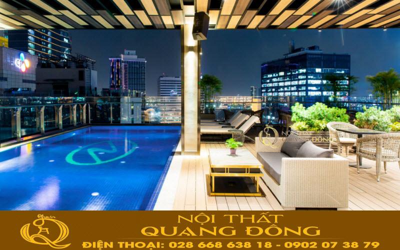 northern charm hotel chọn mẫu ghế nằm hồ bơi QD-563
