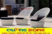 Bàn ghế nhựa giả mây -  Bàn ghế ngoài trời cao cấp