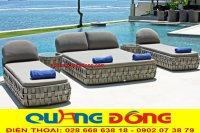 Ghế nằm hồ bơi giả mây - Sản phẩm dành cho hồ bơi ngoài trời.
