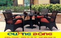 Điểm nổi bật của bàn ghế giả mây tại các khu resort