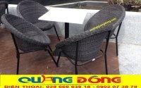 Ghế cafe mây nhựa, ghế đẹp lại còn bền cho cafe sân vườn