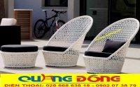 Bàn ghế ngoài trời đan thủ công mỹ nghệ bằng mây nhựa