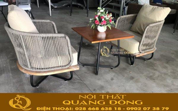 Bàn ghế giả mây QD-339